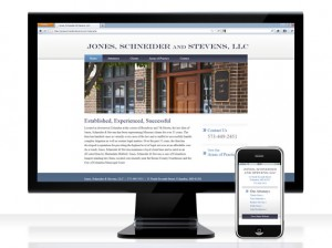 Jones Schneider & Stevens, LLC website and mobile landing page