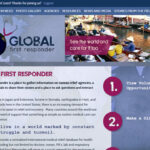 The home page of GlobalFirstResponder.com features a custom flash video.
