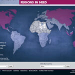 Detailed views of regions allow viewers to see even the smallest of countries.
