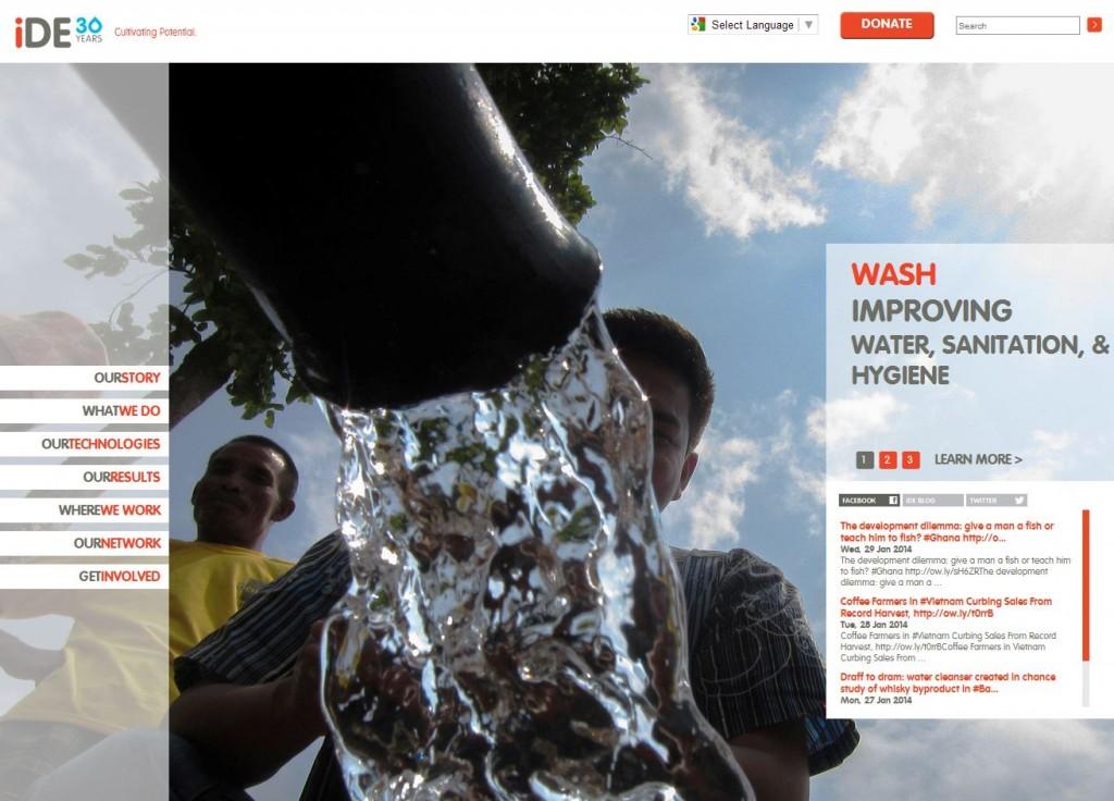 iDE Agricultural Water Website