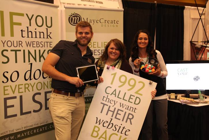 Be inviting to attract people to your booth and be kind while interacting with potential clients.