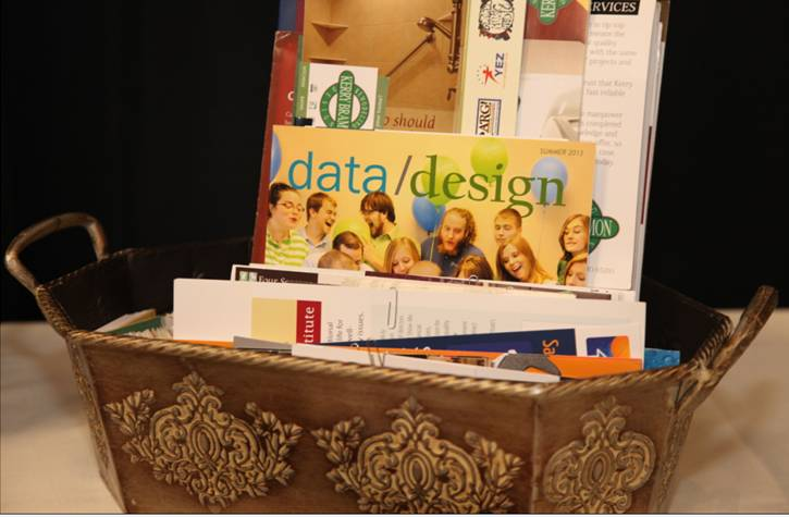 Give out data and information packets relative to your industry to prospects during a trade show to help educate them.