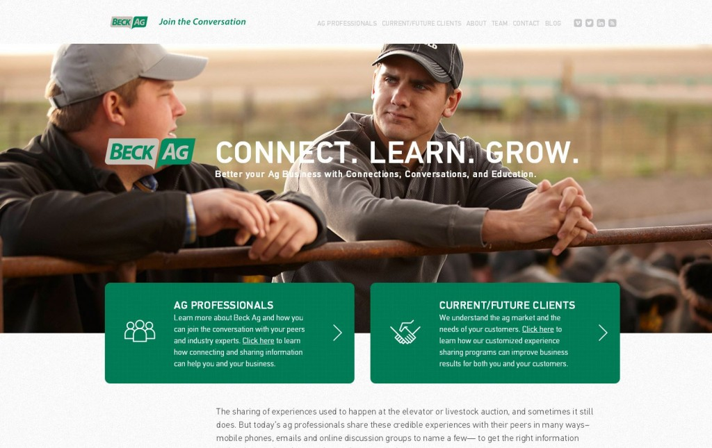 Beck Ag Agricultural Website