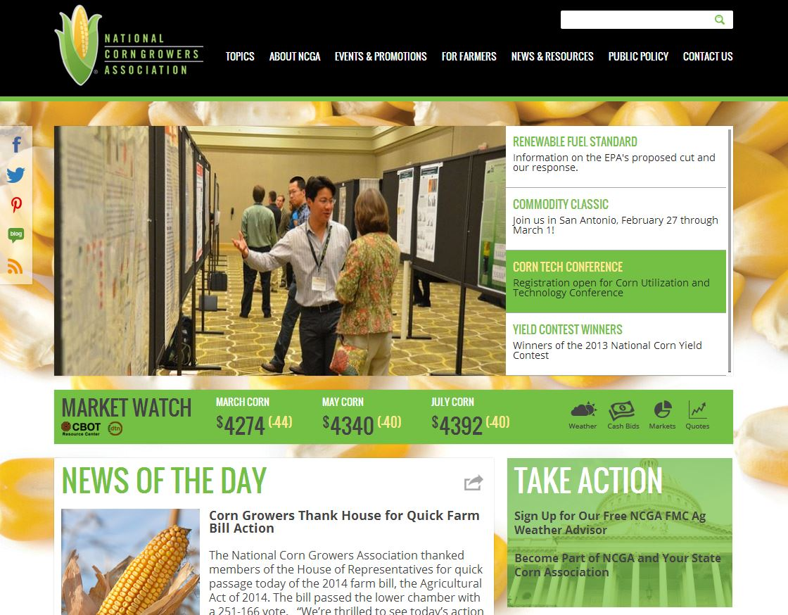 National Corn Growers Association Agricultural Website