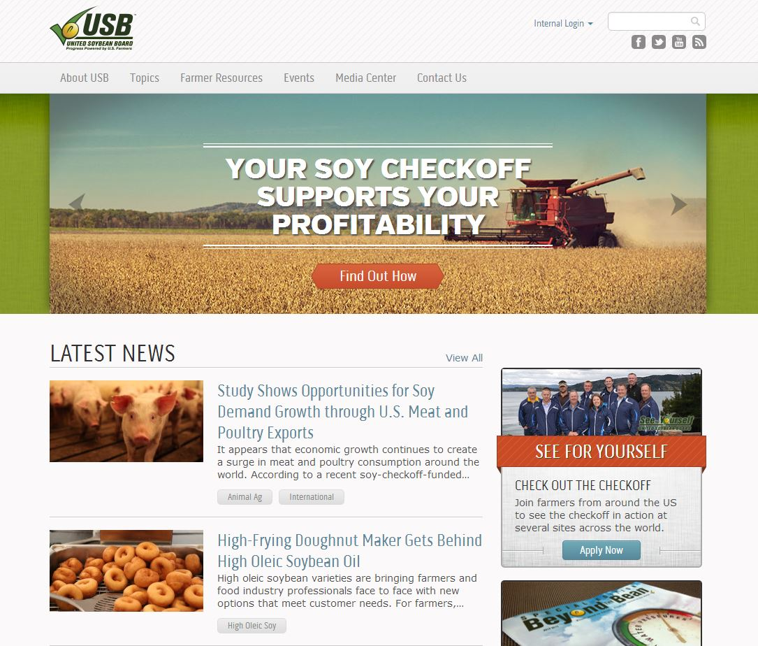 United Soybean Board Agricultural Website