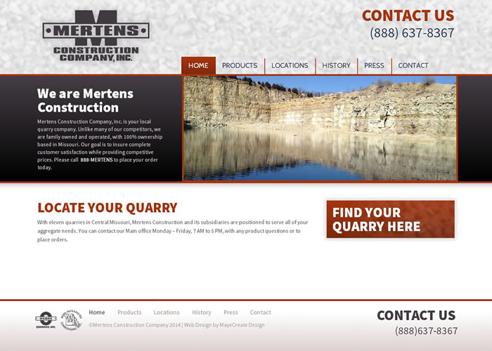 Mertens Construction Website