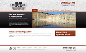 Mertens Construction's website