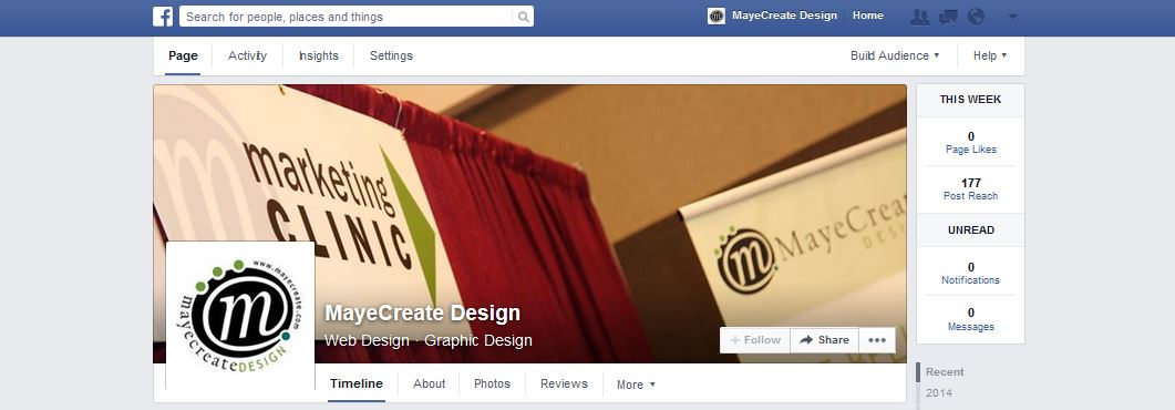 MayeCreate Design Facebook Page Header