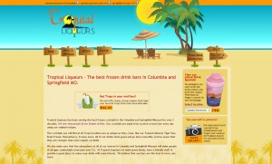 Tropical Liqueurs Website