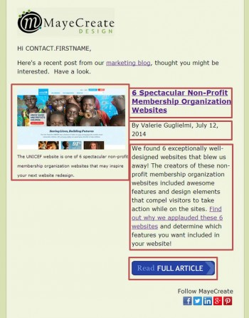 Blog Post Email Example