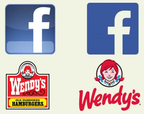 Facebook and Wendy's Logo Redesigns