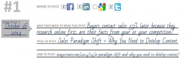 Example of Planning Social Media Post 2