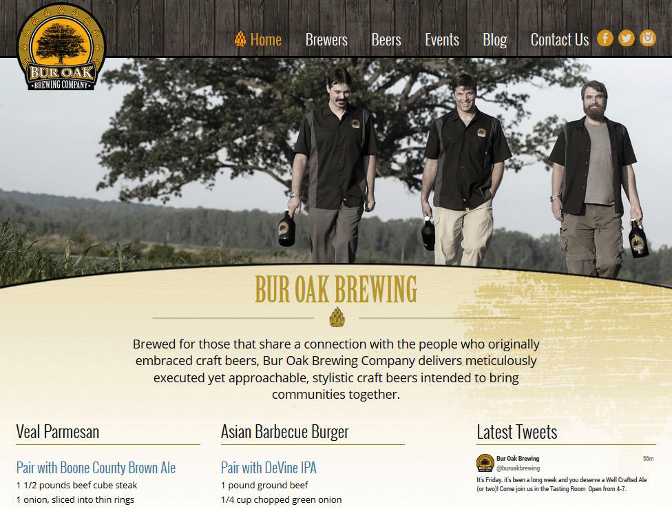 Bur Oak Brewing Company Website