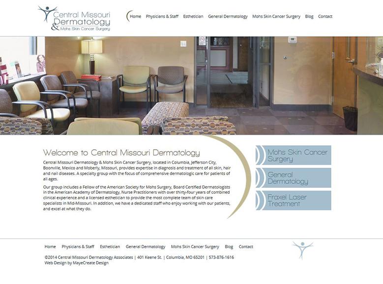 Central Missouri Dermatology Website