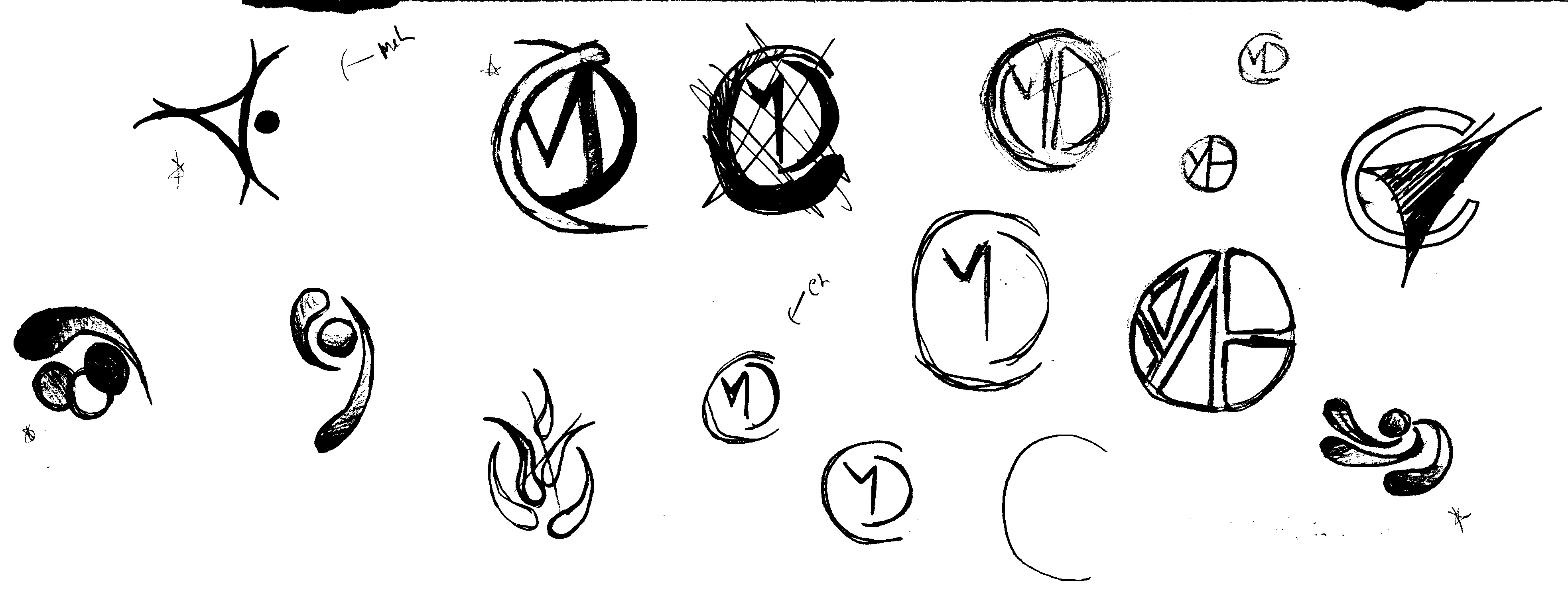 Central Missouri Dermatology Logo Sketches