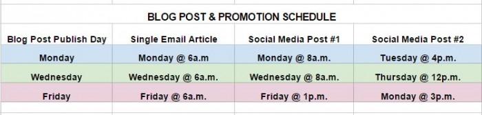 Keep a consistent social media schedule