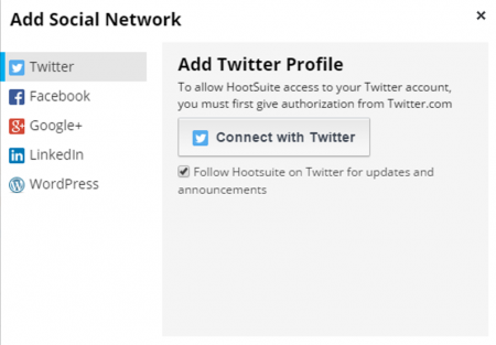 Connect with your social networks