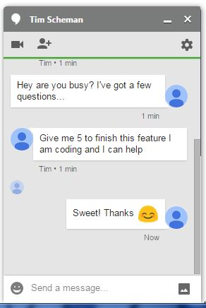 Use Google chat to communicate with employees