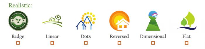 Realistic Logo Icons
