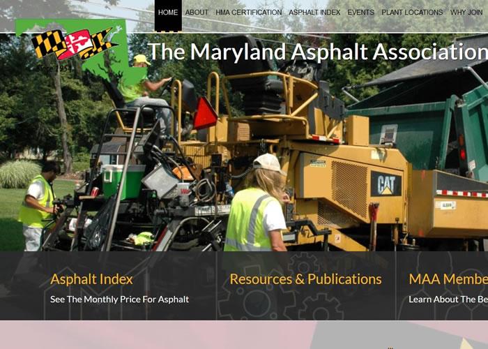 Road line example for asphalt paving websites.