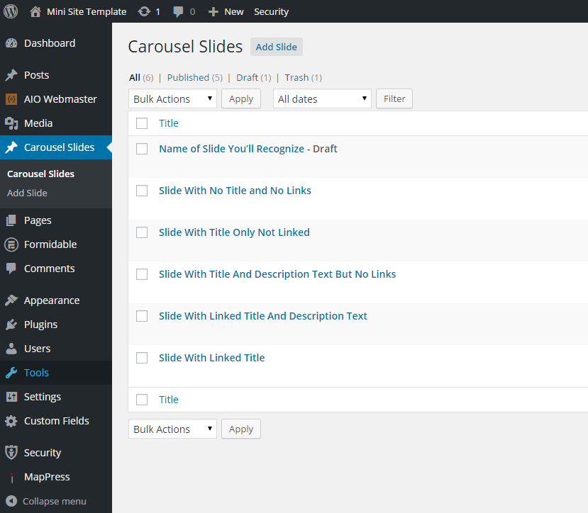 using carousel slides 2