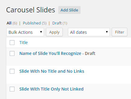using carousel slides 1