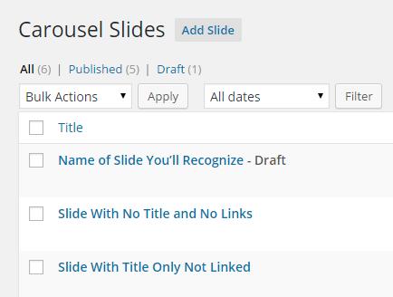 using carousel slides 1