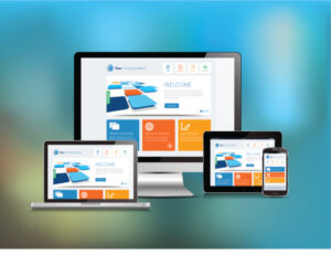 Web design displayed in various media platforms