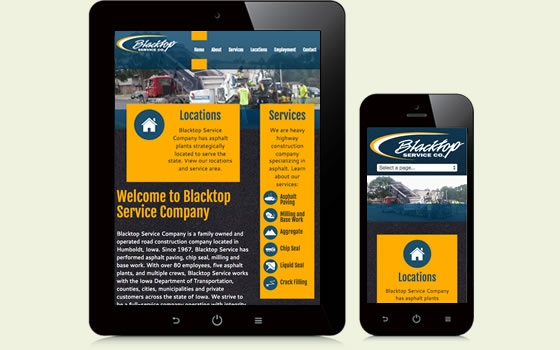 Blacktop Service Company is an asphalt construction company in Iowa.