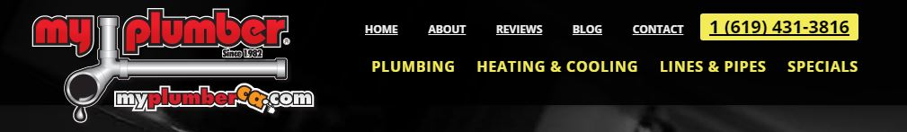 Example of contact information for plumbing websites.
