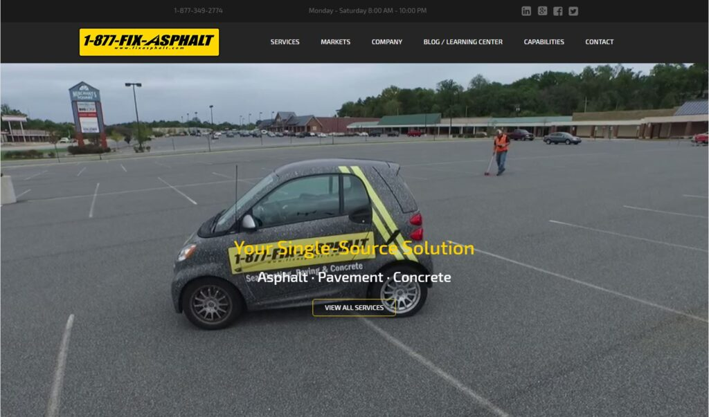 Fix Asphalt networks with asphalt and concrete contractors on the East Coast.