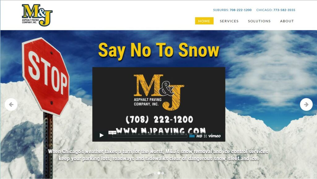 M&J Asphalt Paving Company, Inc. works in the Chicago area.