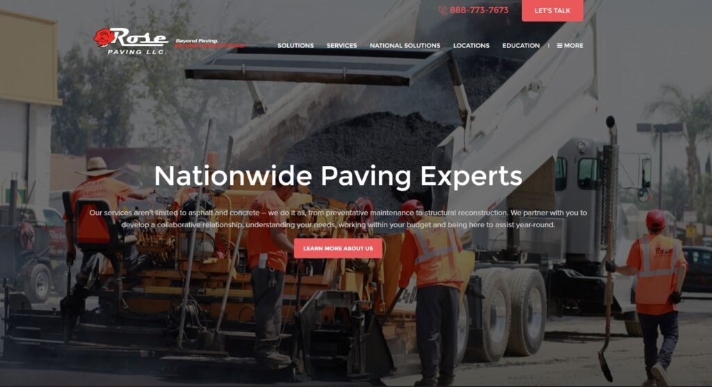 Rose Paving LLC. performs structural reconstruction along with asphalt and concrete.