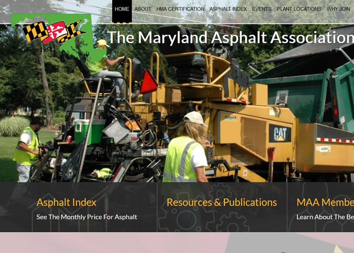 Road line example for asphalt paving websites.