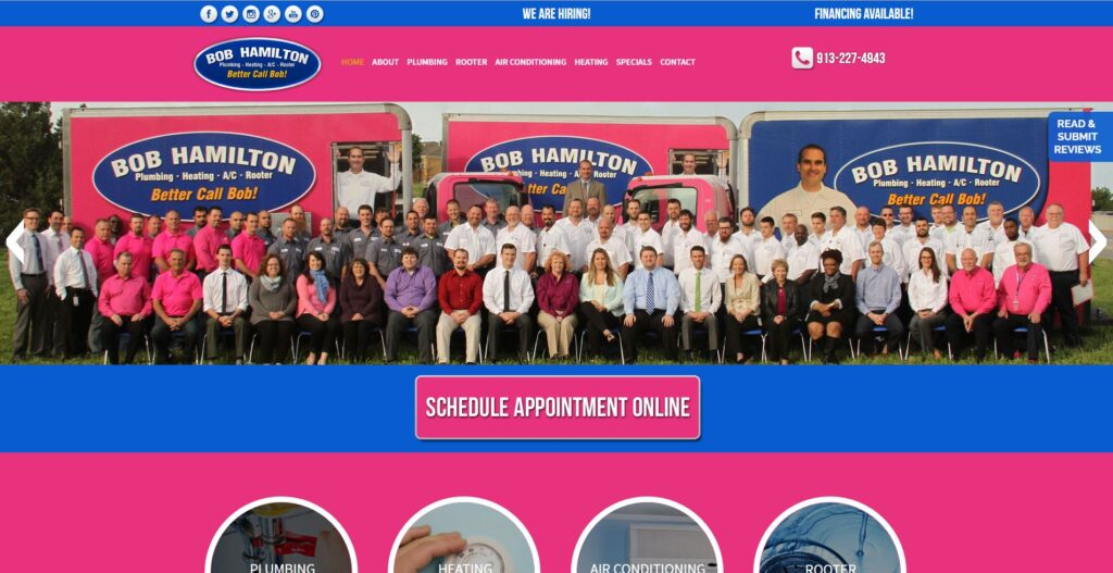 Bob Hamilton Plumbing, Heating, A/C and rooter is located in Kansas City.