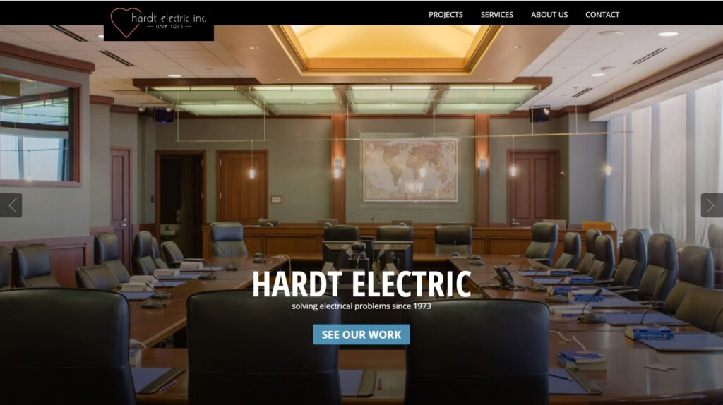 Best Electrical Contractor Websites | MayeCreate Design