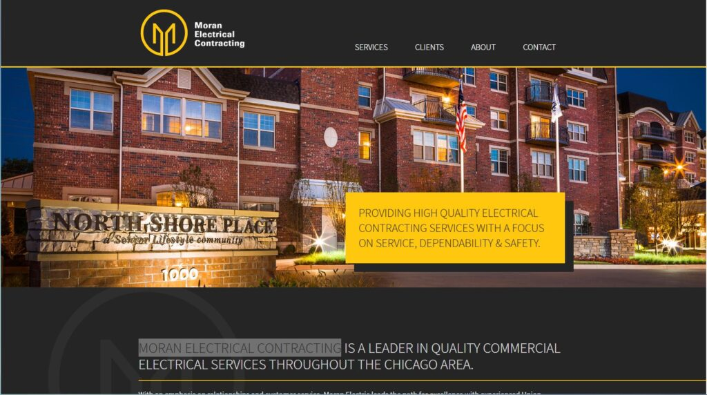 Moran Electric works with general contractors in Chicago.
