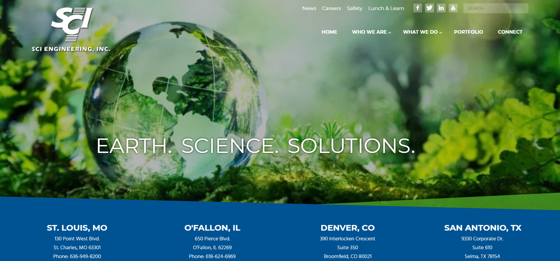SCI Engineering, Inc. serves clients throughout the United States.