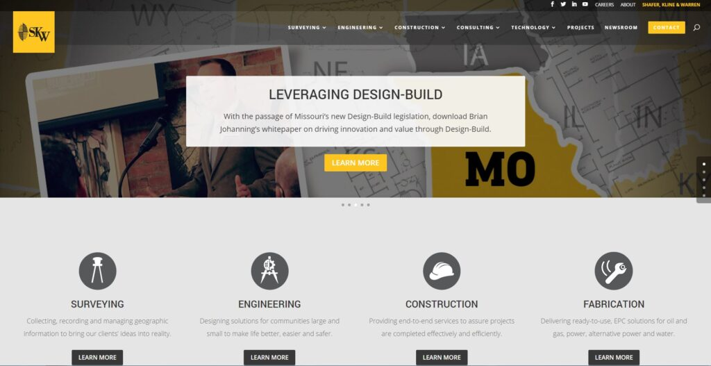 Best Engineering Website Design | MayeCreate Design
