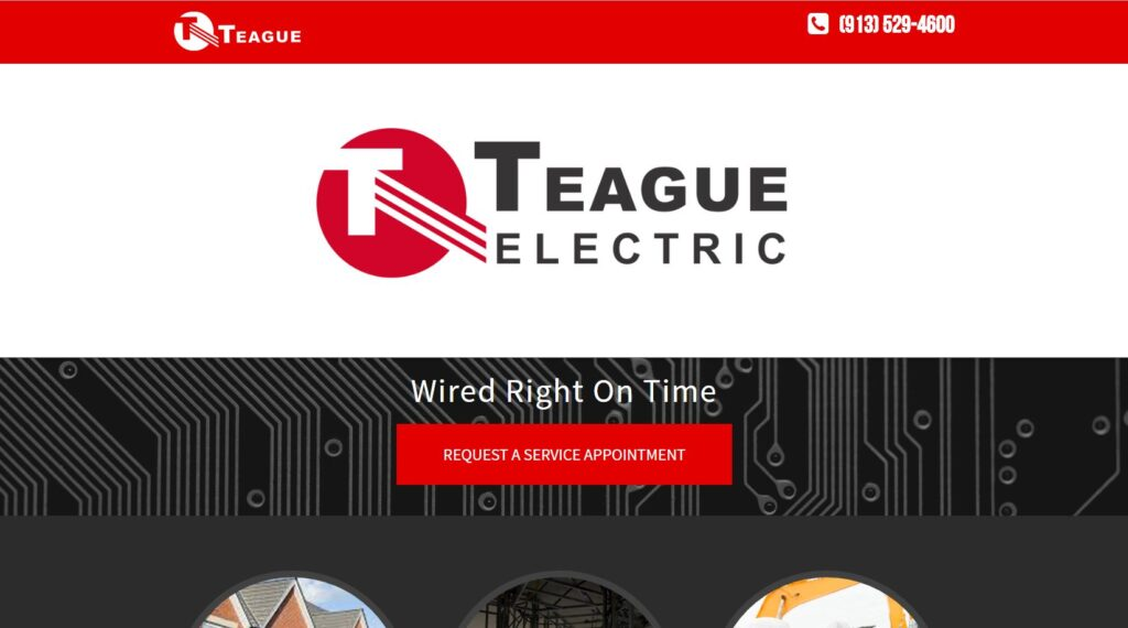 Teague Electric is a large residential electrician company in Kansas City.