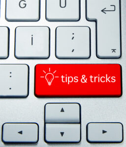 Tips and Tricks keyboard sign