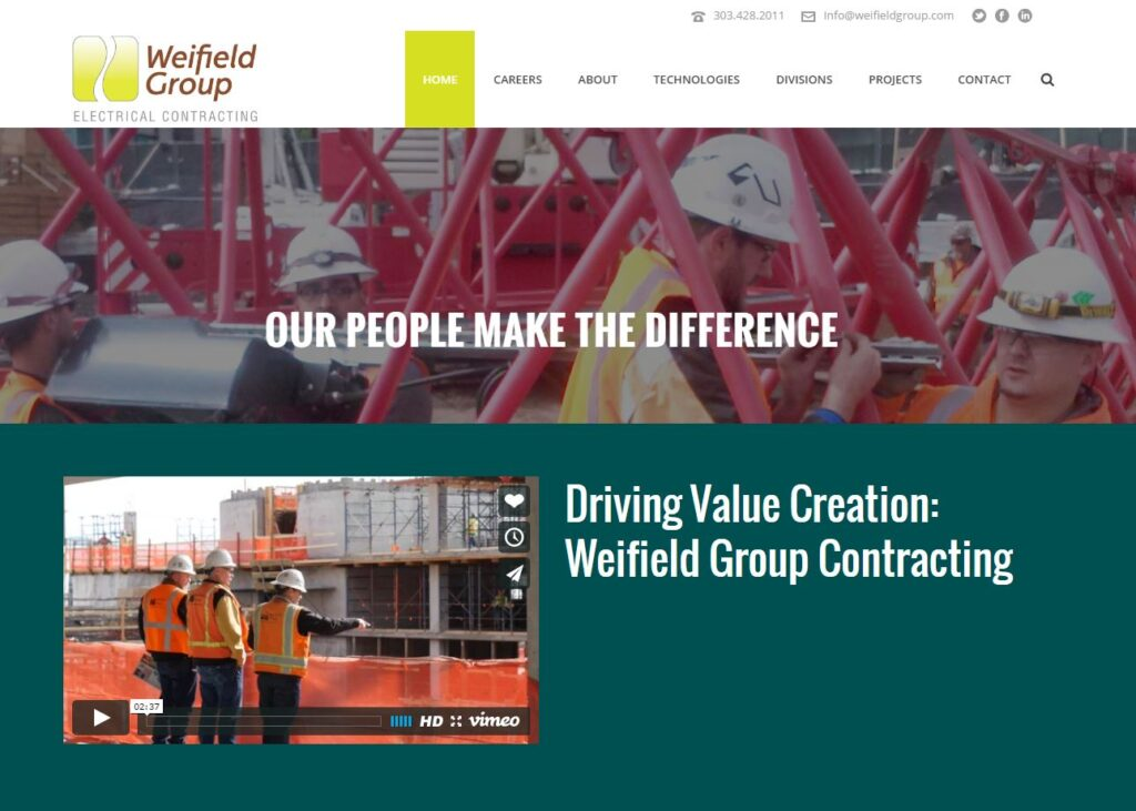 Weifield Group is an electrical contractor servicing Wyoming and Colorado.