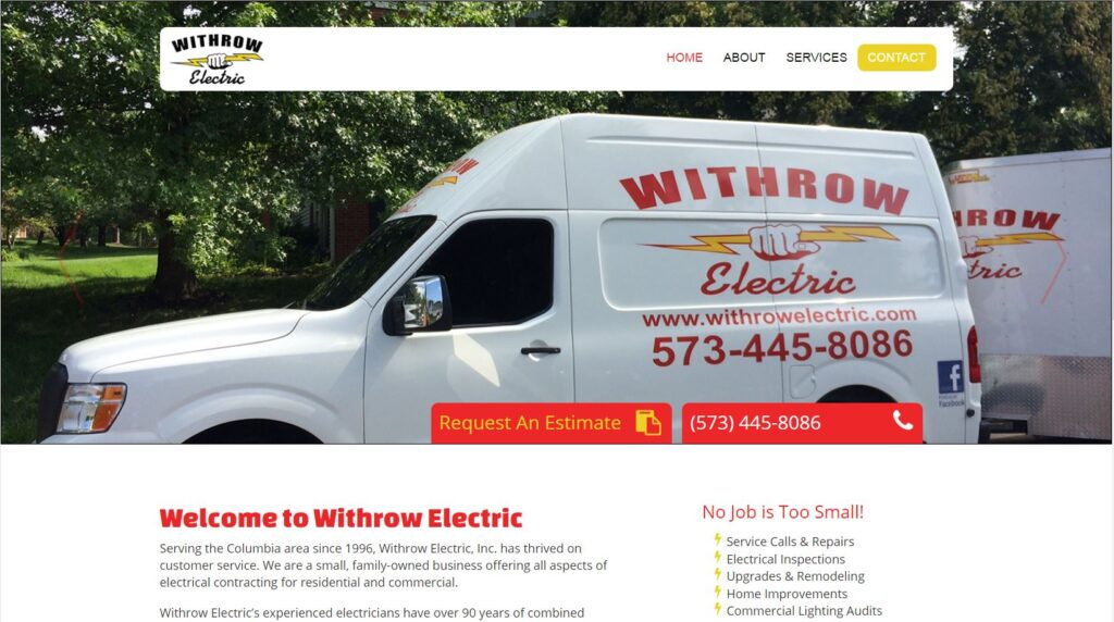 Withrow Electric offers all aspects of electrical contracting for mid-Missouri.