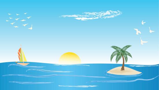 A boat (SEO) heading towards an island (your website).