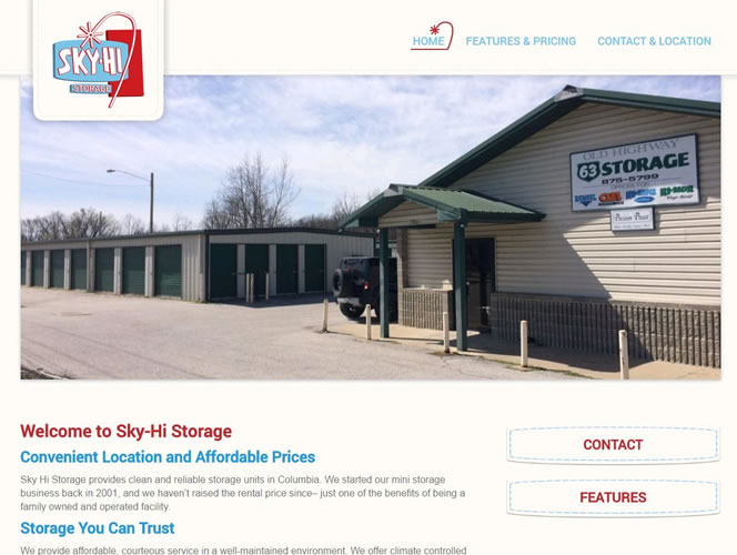 Sky-Hi Storage Homepage