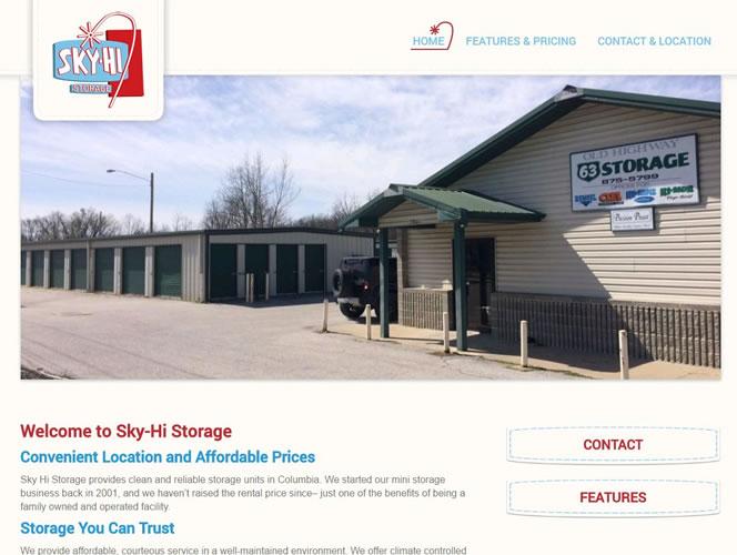 Sky-Hi Storage Homepage