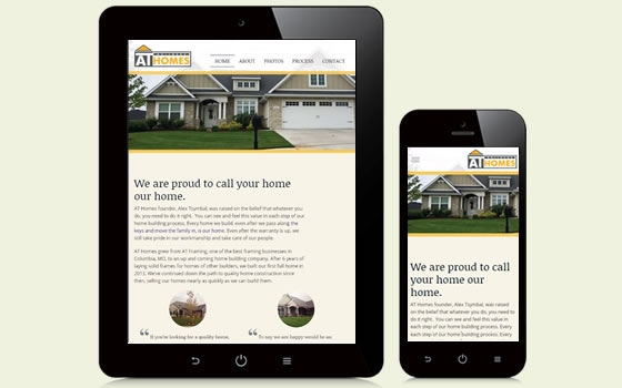 Example of a mobile friendly design for construction companies.