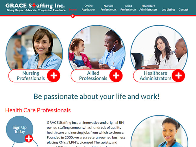 Grace Staffing Home Page