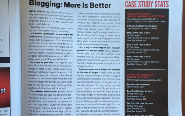 Blogging: More Is Better