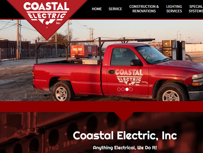 Coastal Electric's new website